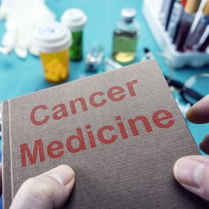 A book titled Cancer Medicine.